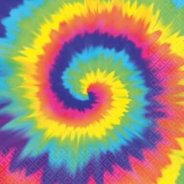 Papieren hippie servetjes 16 stuks