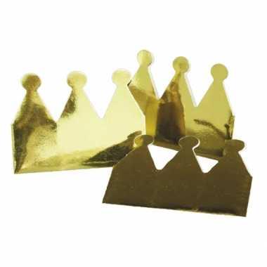 Papieren kroontjes 12x stuks