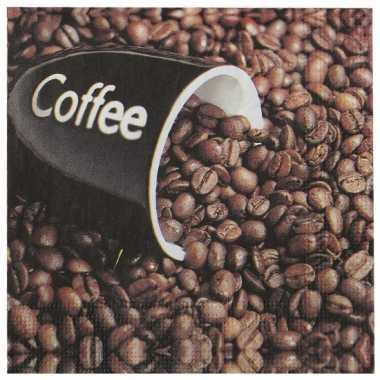 Papieren servetten koffie 20 stuks