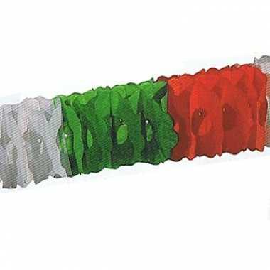 Papieren slinger rood groen wit