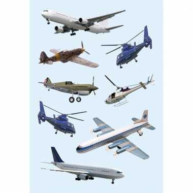 Papieren stickers helikopters 3 stuks