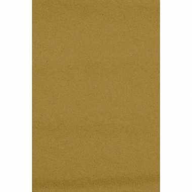 Papieren tafelkleden/tafellakens decoratie goud 137 x 274 cm