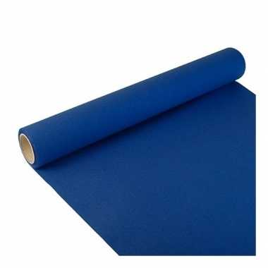 Papieren tafelloper donker blauw 300 x 40 cm