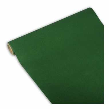 Papieren tafelloper donker groen 300 x 40 cm