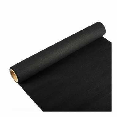 Papieren tafelloper zwart 300 x 40 cm