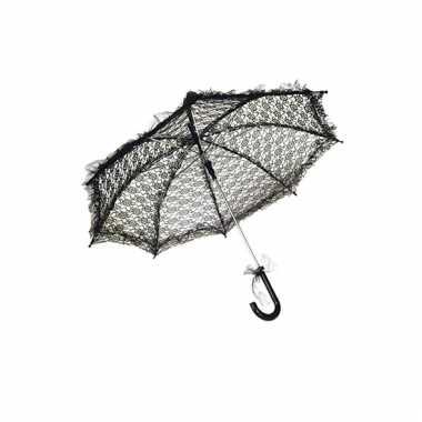 Paraplu van zwart kant 70 cm
