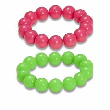Parel armbandjes in neonkleuren