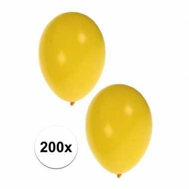 Party ballonnen geel 200 stuks