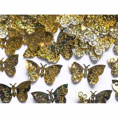 Party confetti gouden vlinders feestartikelen 60 gram