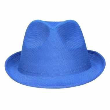 Party hoedje blauw voor volwassenen