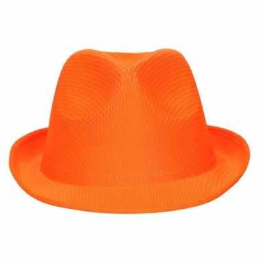 Party hoedje oranje voor volwassenen