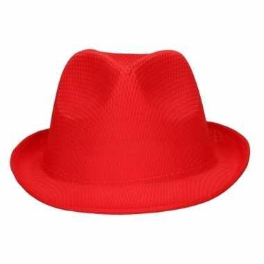 Party hoedje rood voor volwassenen