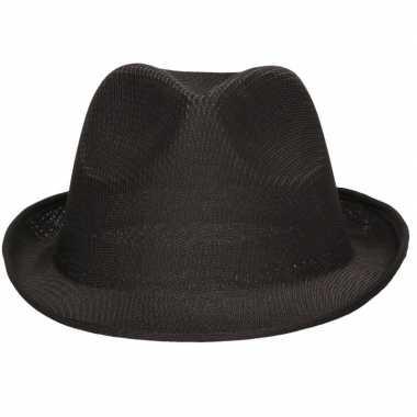 Party hoedje zwart voor volwassenen