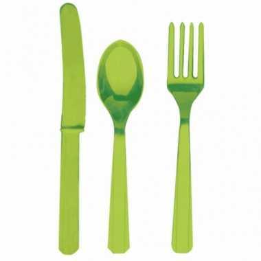 Party servies groen 24 delig