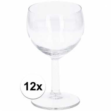 Party wijnglazen 190 ml 12 stuks