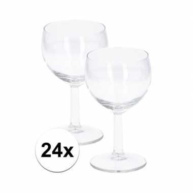 Party wijnglazen 190 ml 24 stuks