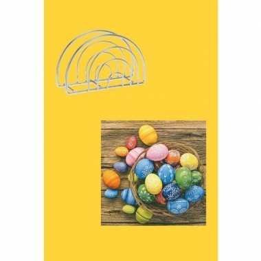 Pasen versiering voor op tafel geel/gekleurd