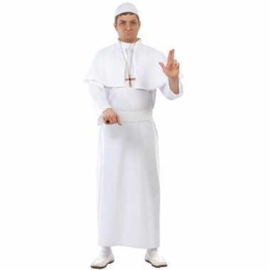 Paus kostuum volwassenen wit