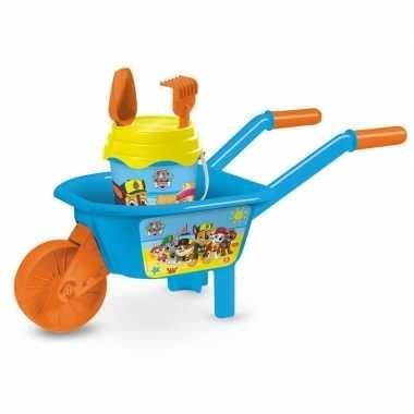Paw patrol kinder kruiwagen met accessoires
