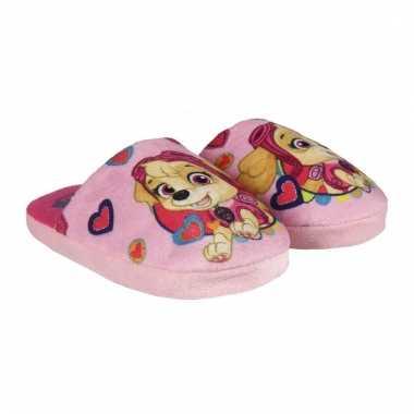 Paw patrol pantoffeltjes open roze voor meisjes