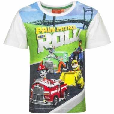 Paw patrol shirt witte mouwen