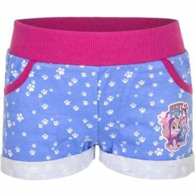 Paw patrol short blauw voor meisjes