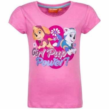 Paw patrol skye en everest shirt lichtroze