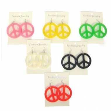 Peace oorbellen jaren 60