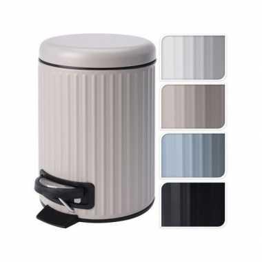 Pedaalemmer/vuillnisbak 3 liter taupe kleur