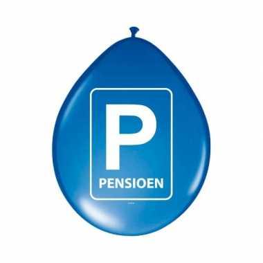 Pensioen ballonnen met parkeer teken 8 stuks