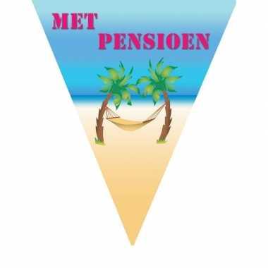 Pensioensfeest vlaggenlijn