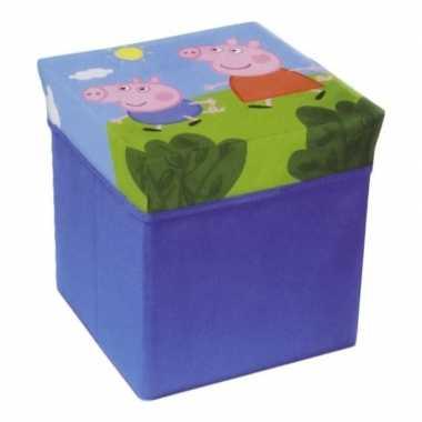 Peppa pig bewaardoos/poef meubeltje voor kinderen