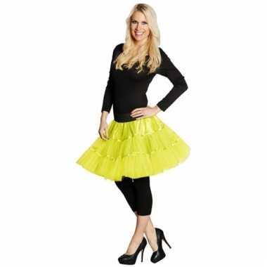 Petticoat voor dames neon geel