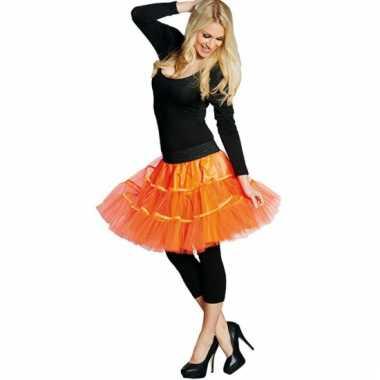 Petticoat voor dames neon oranje