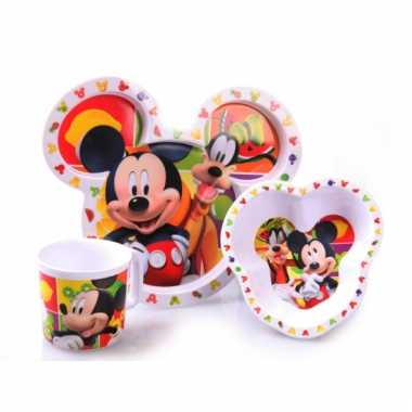 Peuter servies mickey mouse