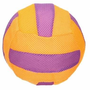 Peuterspeelgoed oranje/paars zachte voetbal 23 cm