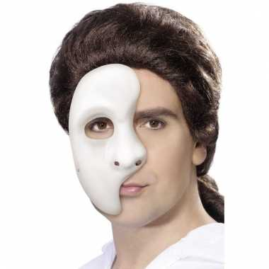 Phantom spook half masker wit voor heren