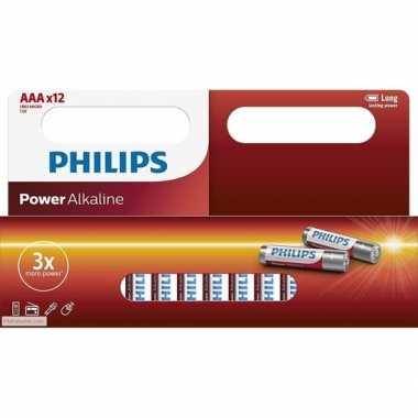 Philips lr03 aaa batterijen 12 stuks