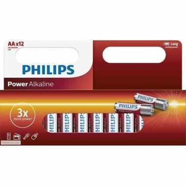 Philips lr6 aa batterijen 12 stuks
