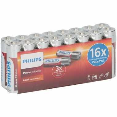 Philips lr6 aa batterijen 16 stuks