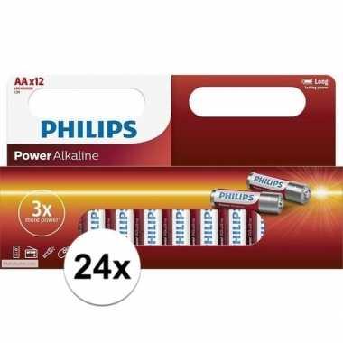 Philips lr6 aa batterijen 24 stuks
