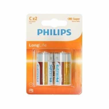Phillips ll batterijen pakket r14 1,5 volt 12 stuks