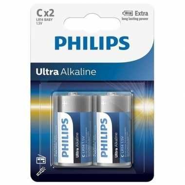 Phillips ll batterijen pakket r14 1,5 volt 2 stuks