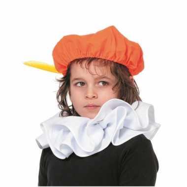 Piet oranje verkleed baret voor kinderen