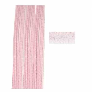 Pijpenragers roze 50 cm 10 st