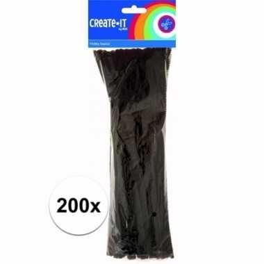 Pijpenragers zwart 30 cm 200 st