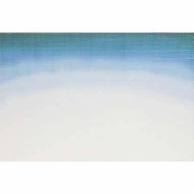 Placemats blauw wit aquarel 45 x 30 cm