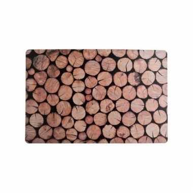 Placemats met houtprint 43 x 28 cm