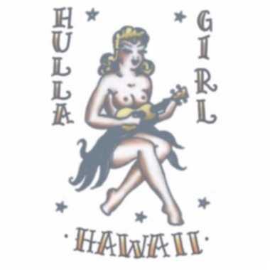 Plak tatoeage hawaii thema