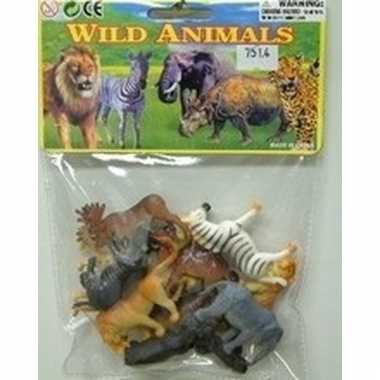 Plastic safari dieren 12 stuks